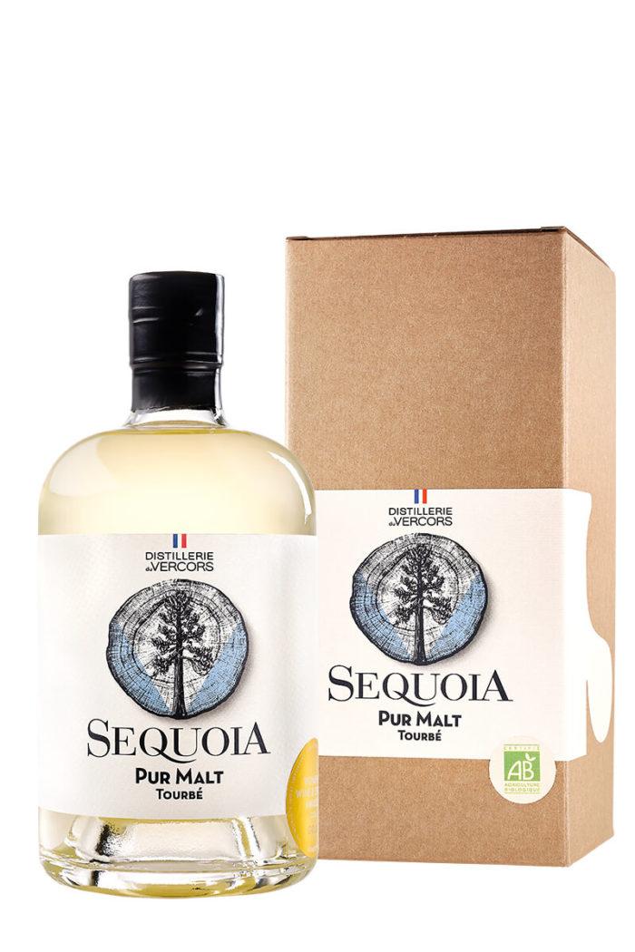 Achat bouteille de pur malt tourbé bio Sequoia de la Distillerie du Vercors