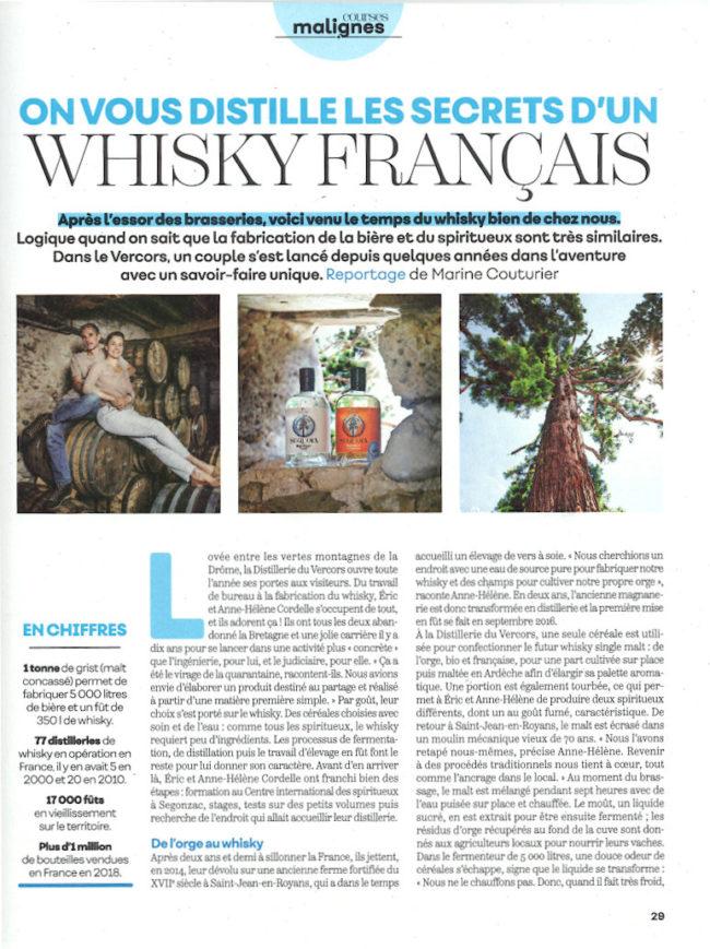 Marmiton et le Whisky Français bio de la Distillerie du Vercors