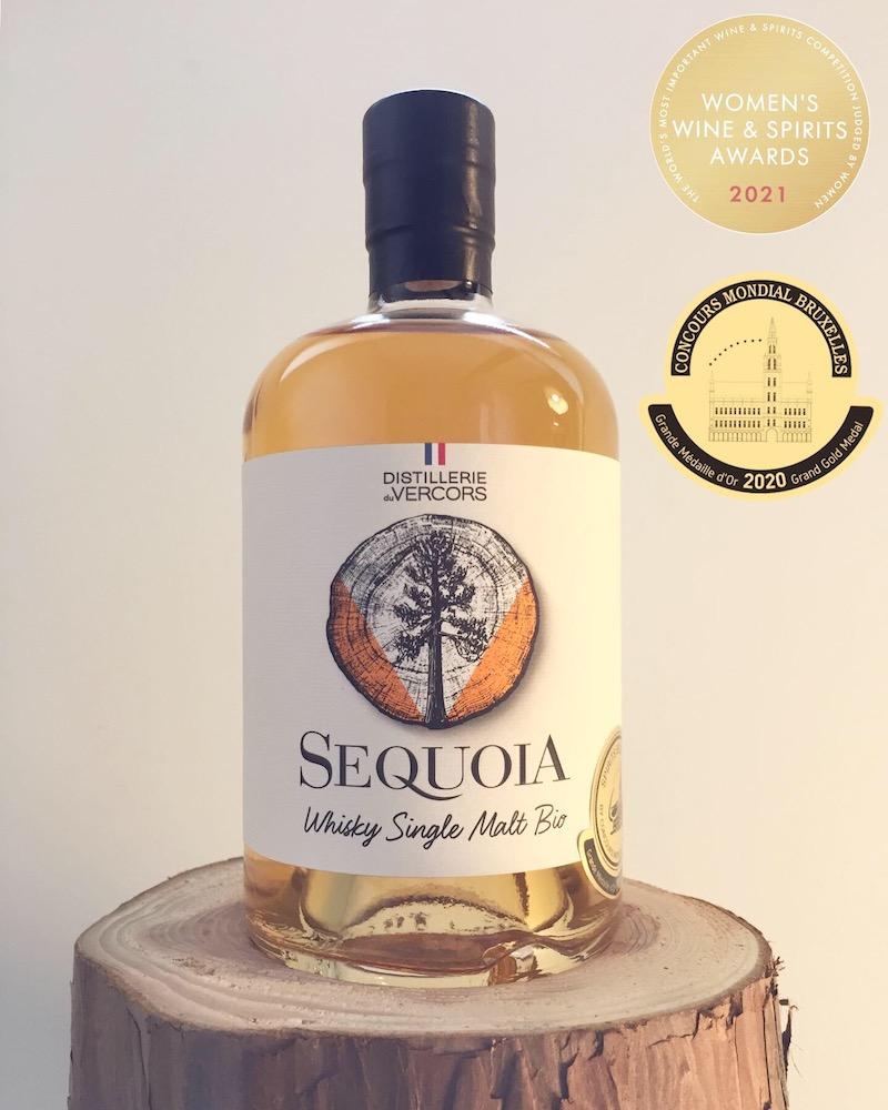 Deux Médailes d'Or et Trophée de la Révélation Organique pour le Whisky Séquoia.