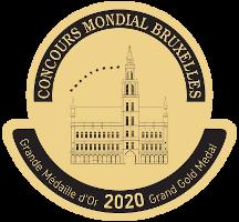 Grandé médaille d'or au Concours Mondial de Bruxelles 2020