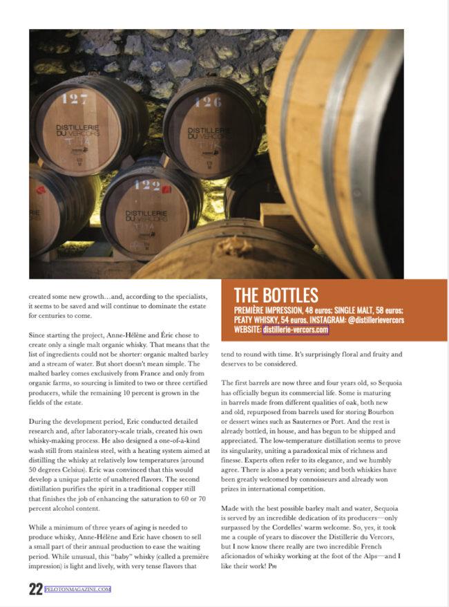 La Distillerie du Vercors dans Peloton Magazine